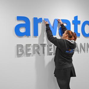 3D Buchstaben Arvato