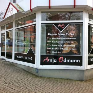 Schaufensterbeschriftung Odmann