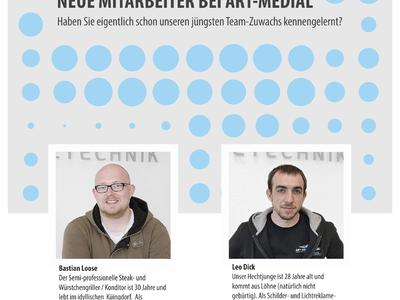 Neue Mitarbeiter bei art-medial