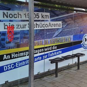 Bushaltestellenwerbung Arminia