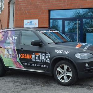 Fahrzeugbeschriftung CRANK in St. Tropez