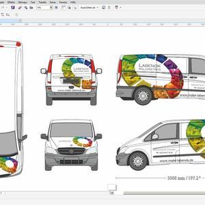 Gestaltung von Fahrzeugen (z.B. Car Wrapping)