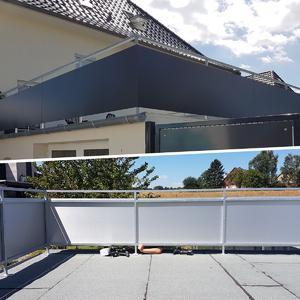 Geländerabdeckung mit Aluminiumverbundplatten