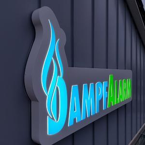 Dampfalarm 3D Leuchtwerbung Outdoor