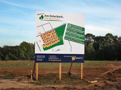 Werbeschilder für Bauprojekte