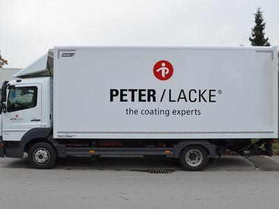 LKW-Beschriftung Peter Lacke