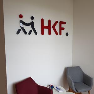 3D Buchstaben HKF