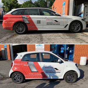 Fahrzeugbeschriftung BMW 520d Smart Forfour