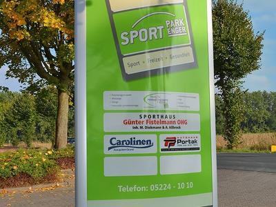 Leuchtpylon konvex Sportpark Enger
